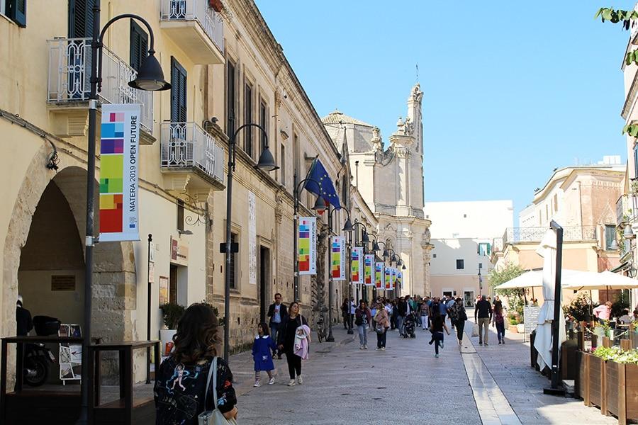 Veduta di Via Ridola a Matera