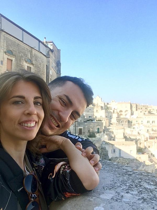 Selfie da Piazza Pascoli a Matera