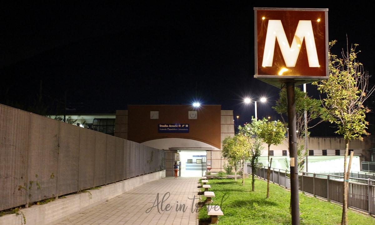 Viale d'ingresso alla Stazione metro dello Stadio Arechi di Salerno