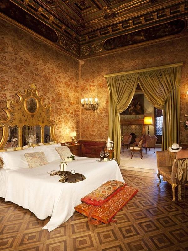 Interni raffinati dell'Hotel Palazzetto Pisani Grand Canal a Venezia