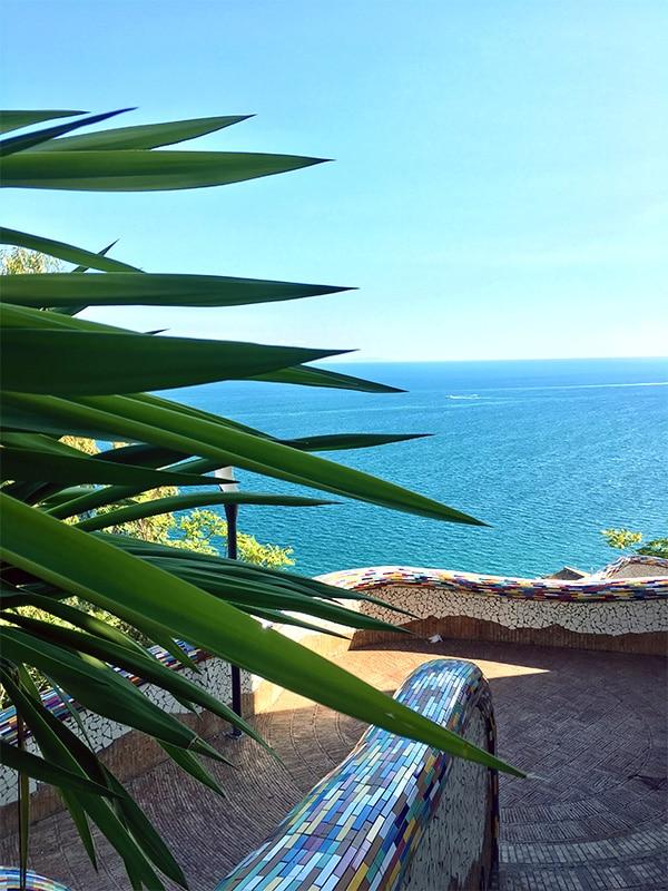 Vista sul Golfo di Salerno dalla Villa Comunale di Vietri
