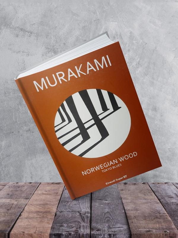 Mockup: Norwegian wood di Haruki Murakami, edito da Einaudi